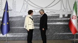 Europe's Catherine Ashton and Iran's Saeed Jalili